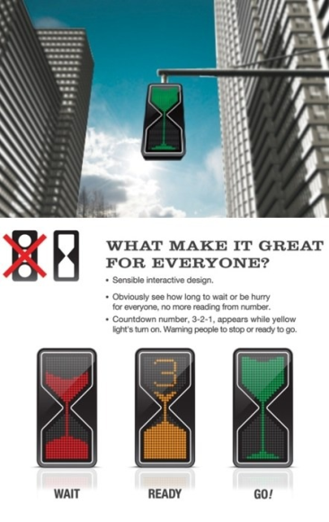 Proposal fo Hourglass Traffic Light. What do you think of it? Is it too confusing?