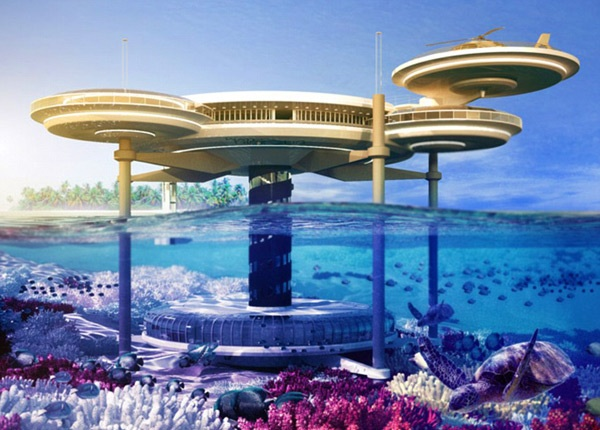 """Latest futuristic development with the latest technology...""""Underwater Hotel""""."""