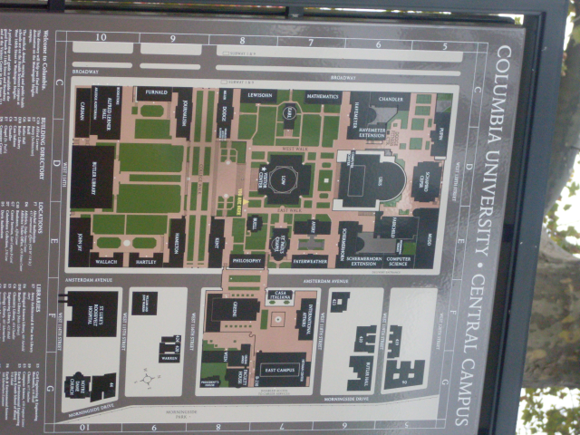 Columbia Campus Map..can we use technology like augmented reality to give users of a college campus digital  tour?