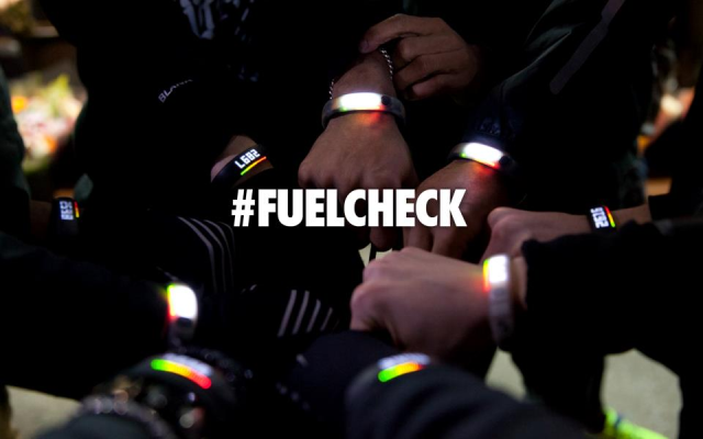 The nike fuel band technology motivates people to exercise in cities.