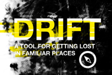 "Drift: A Psychogeographic App Helps You To Get Lost<br/>read more: http://popupcity.net<wbr/><span class=""wbr""></span>/2012/07/new-psychog<wbr/><span class=""wbr""></span>eographic-app-helps-<wbr/><span class=""wbr""></span>you-to-get-lost/"