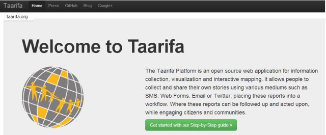 The Taarifa Platform is an open source web application for information collection, visualization and interactive mapping. www.taarifa.org