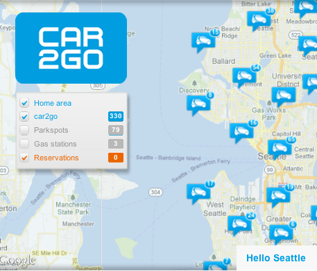 car2go is a car sharing platform uses RFID and smartphone technology, something that changes the concept what car ownership is in cities
