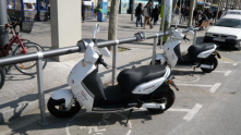 Electrical charging station for motorbike in Barcelona, Spain