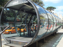 Bogota's rapid bus system used these 'loading tubes' to increase efficiency of passenger loading