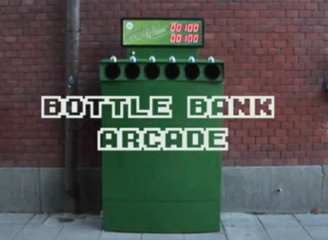 bottle bank arcade motivates the people to recycle