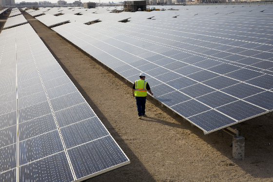 Solar farm, UAE.
