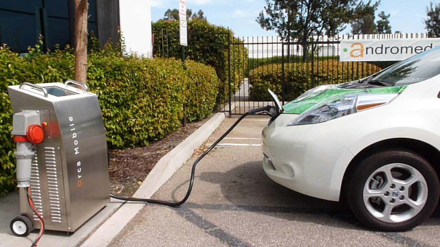Charging the electric LEAF!