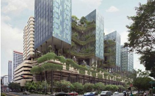 Vertical Greening: Bringing the greeneries above the ground<br/>Parkroyal on Pickering by WOHA Architects<br/>Singapore