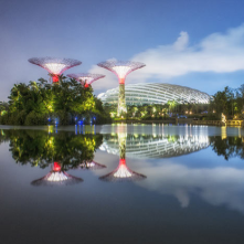 Gardens by the Bay, Singapore<br/>by Grants Associates and Wilkinson Eyre Architects<br/><br/>Greening the city and attracting tourism.