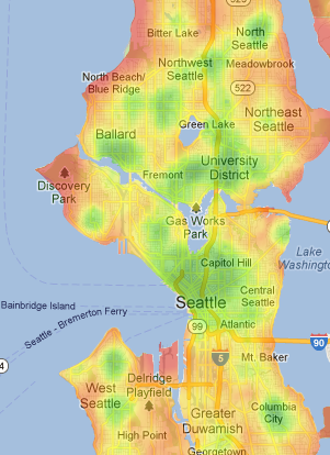 Using analytics to identify areas in a city more  to a particular lifestyle, such as using Walk Score to find walkable neighbourhoods