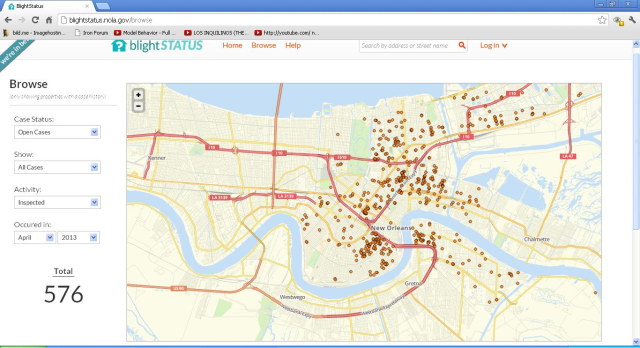 BlightStatus allows citizens to find out what the city is doing about blighted properties in New Orleans. It makes the city accountable.