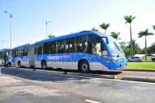 Rio de Janeiro's grate separated bus lanes makes busses almost as good as rail transit, without the high cost of rails.