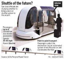 Futuristic Shuttles in the Bay Area