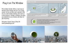 Its simple and genius at the same time!!  Window socket Solar Energy