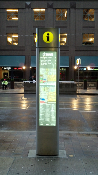 This is a map detailing the financial district.  It is steps from the subway entrance so it's very helpful for visitors.