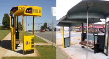 from the recycled art foundation<br/>recycled bus school