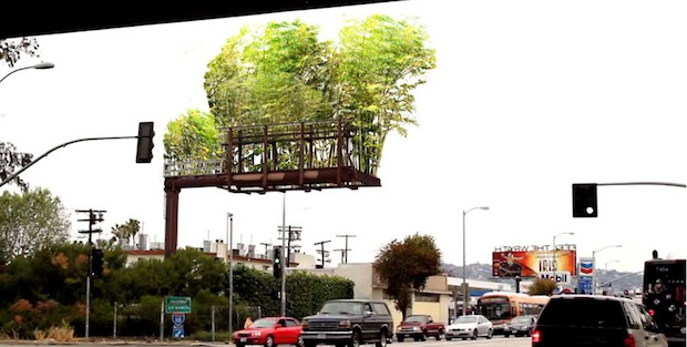 Living billboard to purify the air and beautify the daily commuty- http://smrt.io/10nz49N