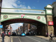 Victorian/19th century technology: railway bridge next to Foregate Street station, Worcester in England. Technology that lasts!