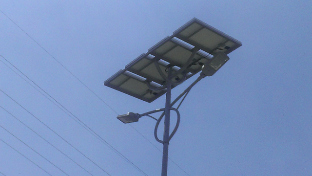 Solar powered lights in the streets of Maracay (Venezuela)