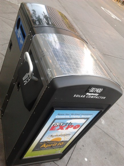 Live from Bay Area, Solar Compactor disposal systems !!