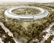 Apple Inc's new headquarters (rendering) in Cupertino