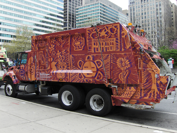 Beautifying garbage trucks