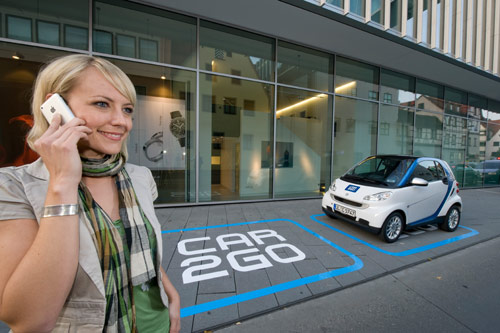 Just like you take a coffee2go, why won't you use car sharing and take a car2go for a few hours? It will help reducing the traffic for sure!