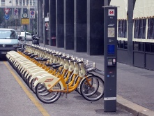 "The BikeMi public bicycle sharing system in Milan, Italy.<br/><br/>(Source: Wikipedia/Wikimedia)<wbr/><span class=""wbr""></span><br/>"