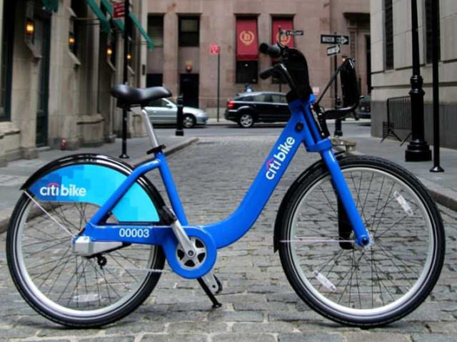 "Who wouldn't want to use that ""cute,"" colorful bike? Citibike, NYC."