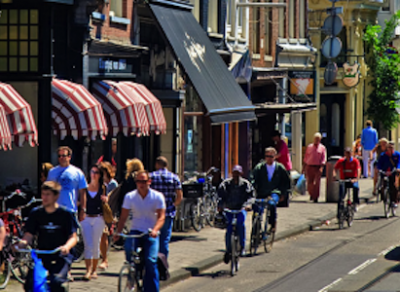 Amsterdam is known for its many smart city projects. One of them is called Climate Street where it has turned one of its busiest, most popul