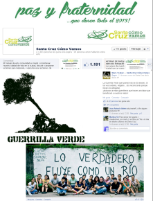 This a Facebook comunity created by citizens in  Santa Cruz, Bolivia to share opinions, dreams, impresions, claims, etc  about their city