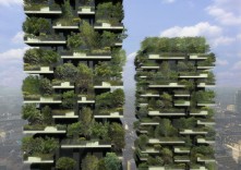 In Milan, the two residential skyscrapers will be covered in greenery.People aren't the only residents. Also moving in:trees, plants etc.