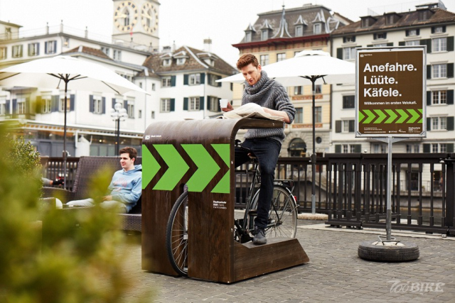 Public coffee tables are just for avid bicyclist.