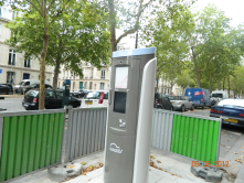 Constucting new electric vehicle services in Paris, France.