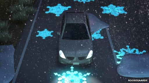 Motorway of the future plans include glowing heat gauges http://www.bbc.co.uk/news/technology-22354675