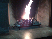 Birmingham Michigan electronic/gas fireplace in an outdoor restaurant...