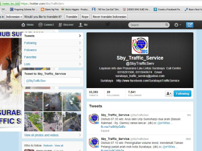Twitter Traffic Service