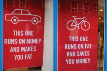 biking saves you...