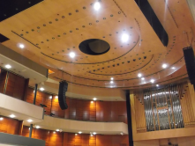 Mobile and flexible ceiling, main hall in Sibeliustalo, Lahti,Finland