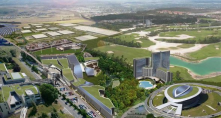 """Kenya's president has launched a $14.5bn (£9.1bn) project to build a new city intended to be an IT business hub and dubbed """"Africa's Silicon"""