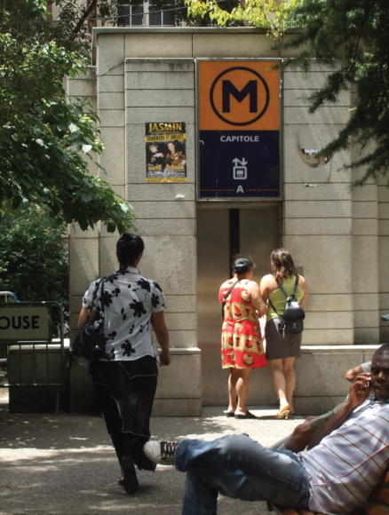 Metro elevators allow all people to get to the metro easily.