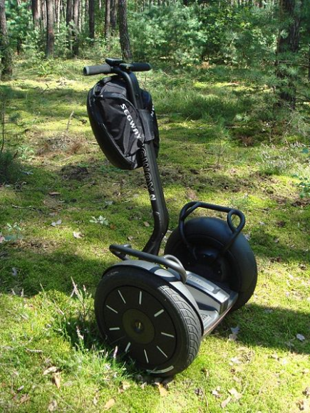 The segway was developed from technology used in the iBOT wheelchair.