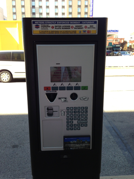 New paystations that have replaced parking meters- Entre your license # and pay w/ a card so you can park anywhere on the street.