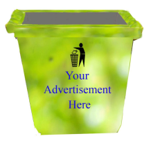 Sensor enabled  city Bin where bins invite Advertisements and bins are placed and offered free of cost to anyone who cares for city.