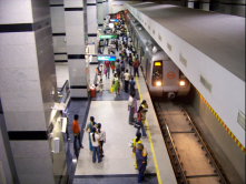 Delhi Metro , India commuting more than a million of passengers per month