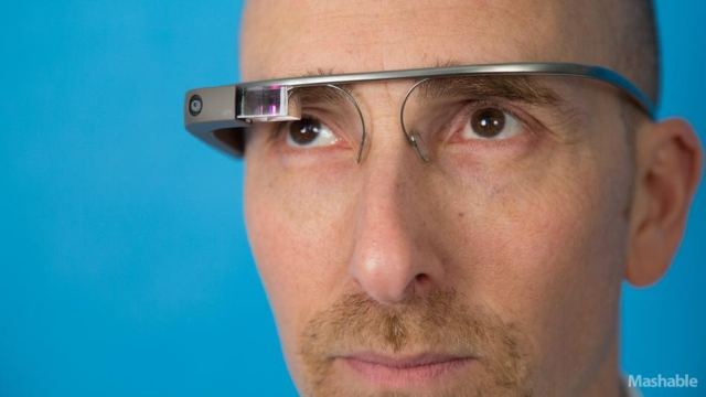 Google Glass resembles a pair of traditional eye glasses, but with images displayed on the lens, it enables users to surf the web send email
