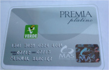 A debit card, people exchange their selected trash for money in this card (you can use it on several shops that sponsor the idea).