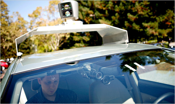 This self-driving car, manufactured by google, has been made legal for road use in California