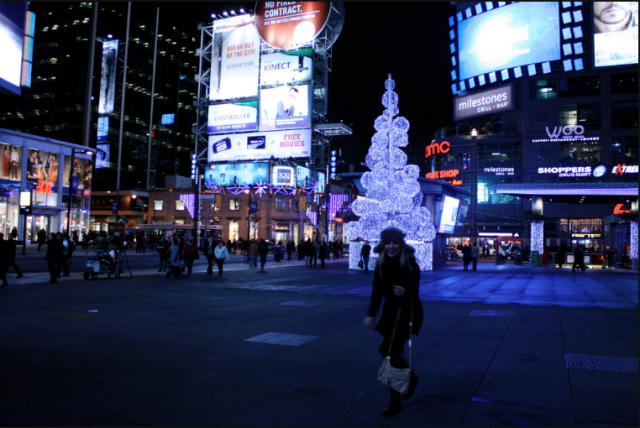 Toronto's famous Younge and Dundas Square. 